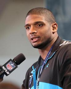 """I just wish you guys would just see me as Michael Sam the football player, instead of Michael Sam the gay football player,"" Sam said Saturday."